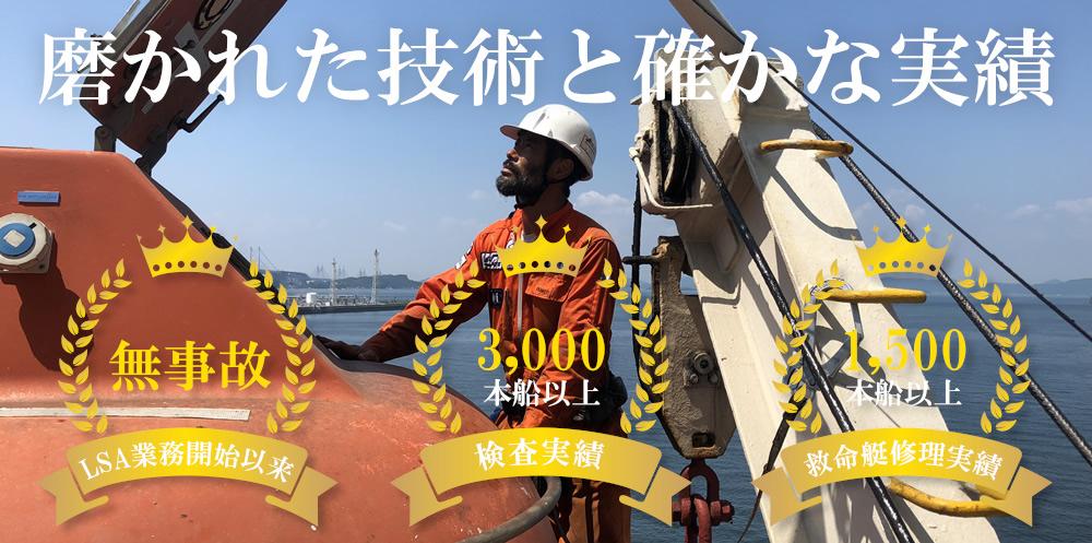 救命艇・浸水装置検査